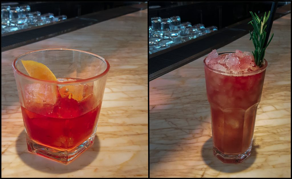 The Sunset Strip and Pomegranate Punch from Kost.